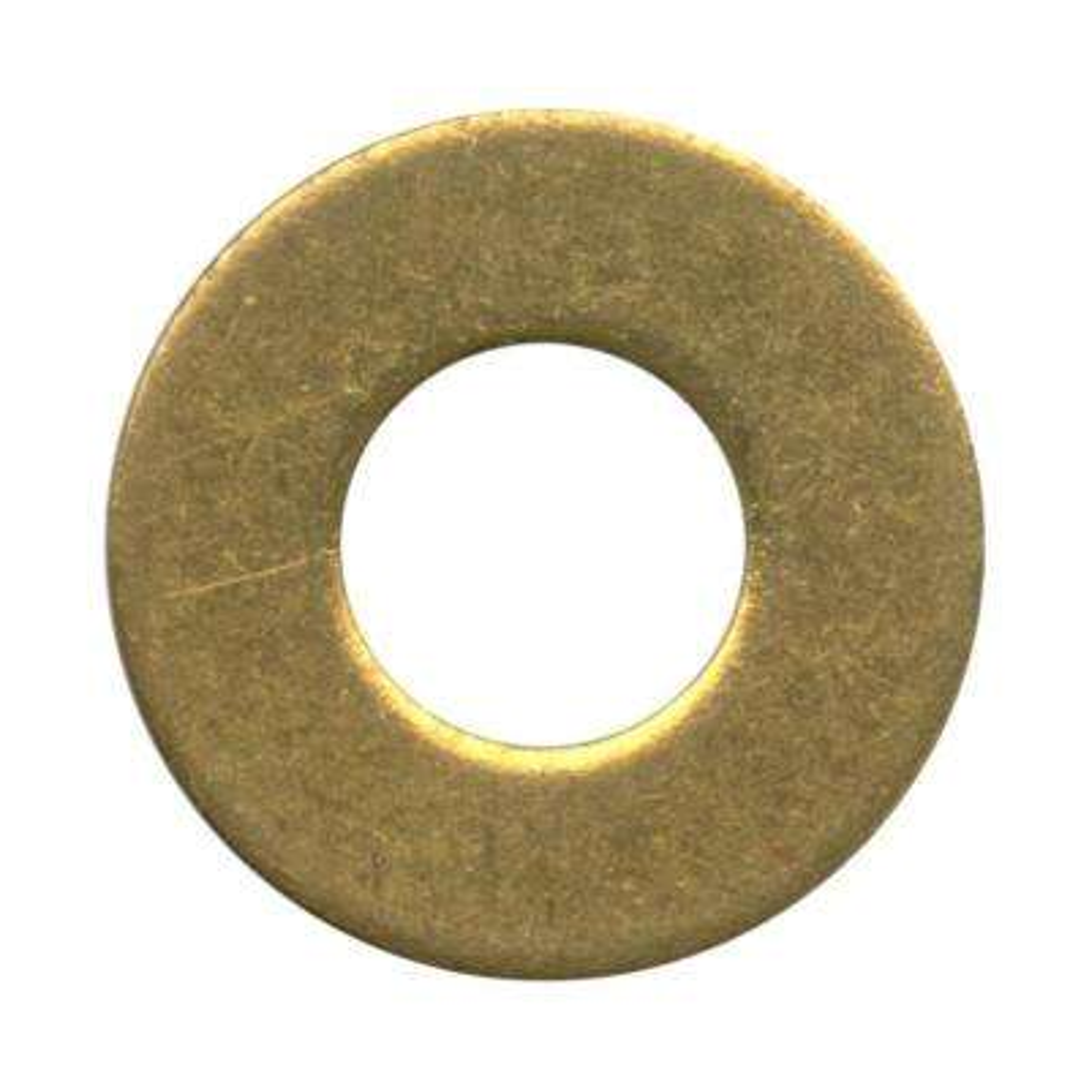 1 per 1/2 in. Brass Flat Washer (6-Pack)
