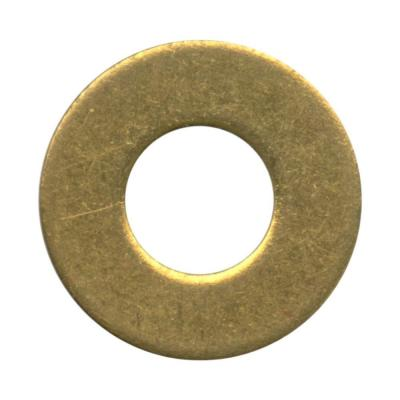 #6 Brass Flat Washer (12-Pack)