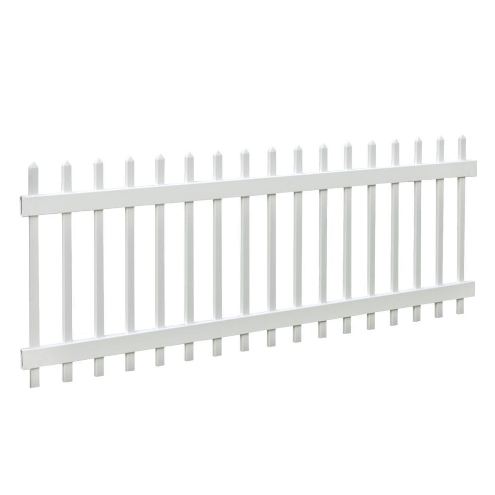 Chelsea 3 ft. H x 8 ft. W White Vinyl Fence Panel