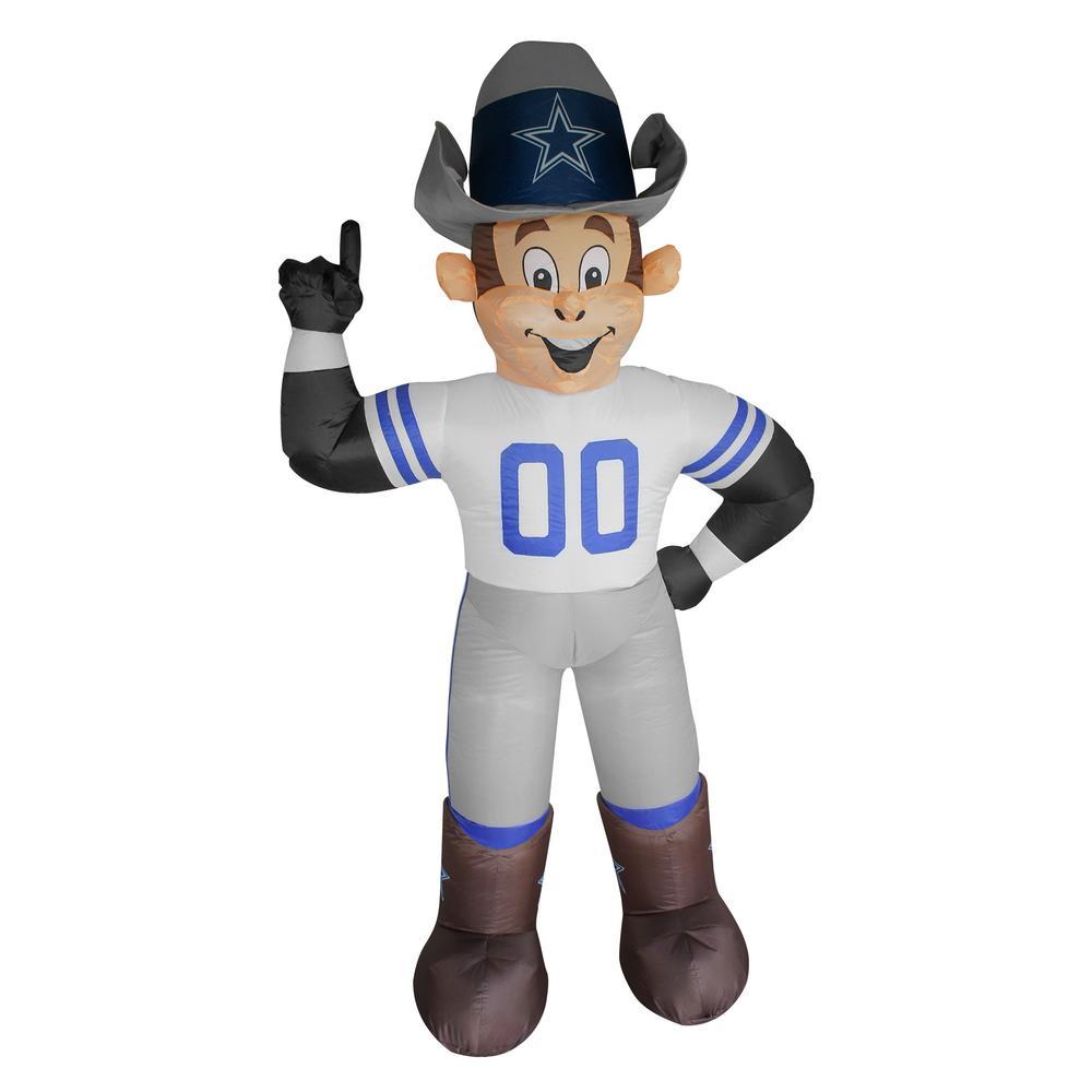 Dallas Cowboys Christmas Hat.Nfl 7 Ft Dallas Cowboys Inflatable Mascot
