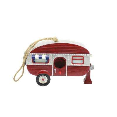 Hanging Red Camper Birdhouse