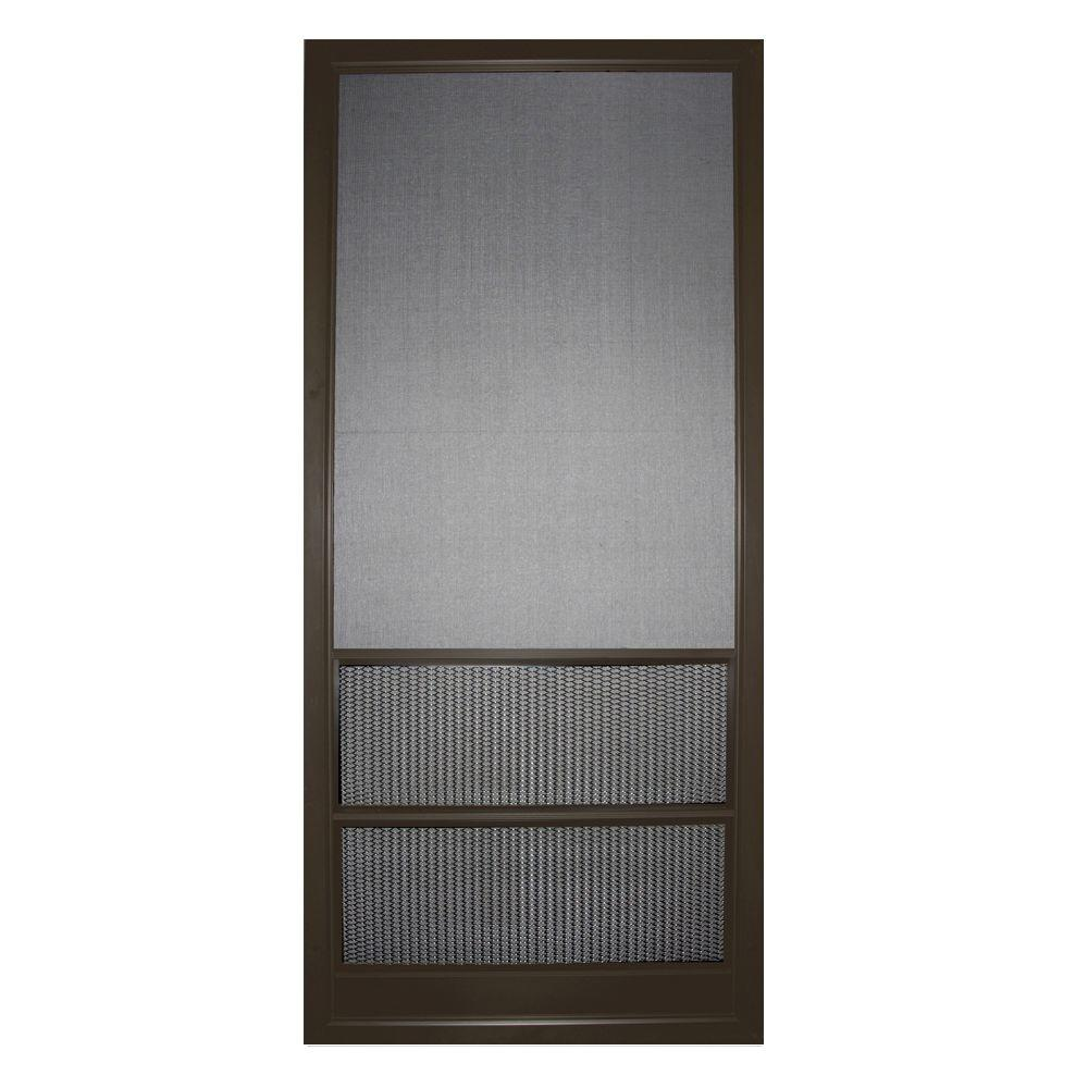Screen tight petguard series 36 in x 80 in wood century - 30 x 80 exterior door with pet door ...