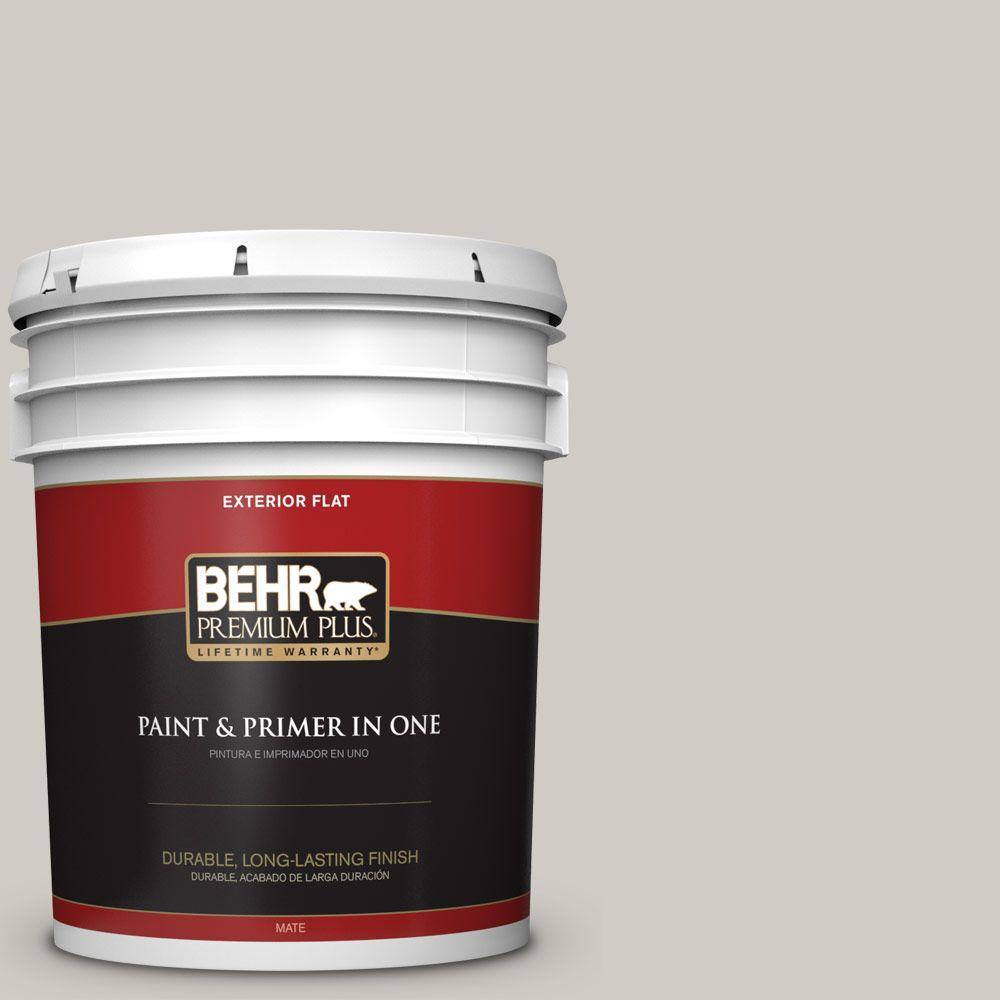 BEHR Premium Plus 5-gal. #BNC-05 Ground Fog Flat Exterior Paint