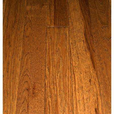 Take Home Sample - Wire Brushed Cane Hickory Solid Hardwood Flooring - 5 in. x 7 in.