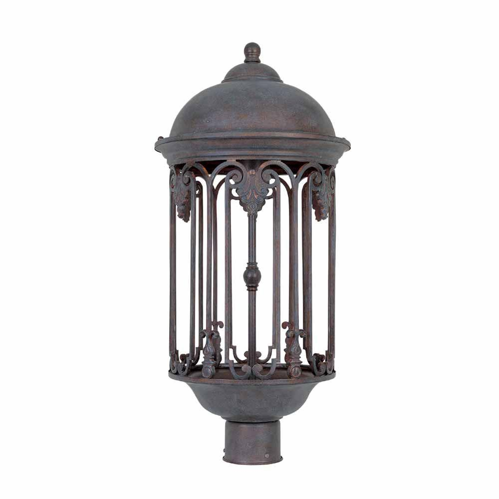 World Imports Dark Sky 11 In Old Bronze Outdoor Post Light