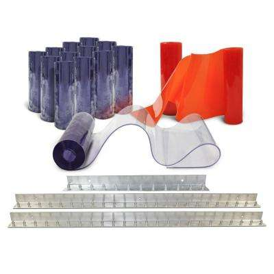Clear-Flex II 10 ft. x 10 ft. PVC Strip Door Kit