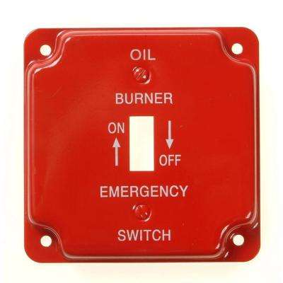 Steel 1-Gang Toggle Wall Plate - Red