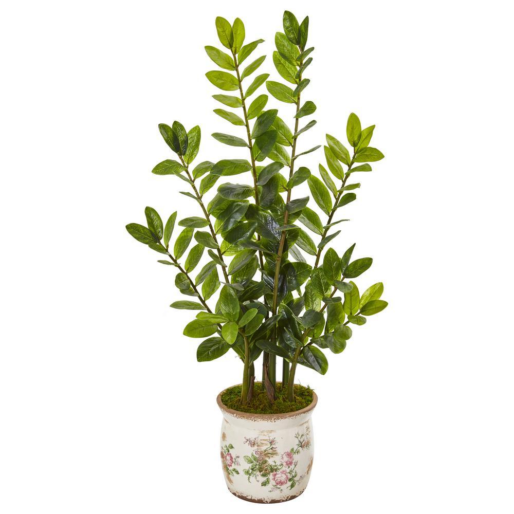 39 in. Zamioculcas Artificial Plant in Floral Design Planter