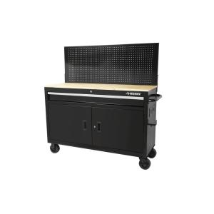Deals on Husky 52-in W x 18.7-in D 1-Drawer Mobile Workbench w/Pegboard