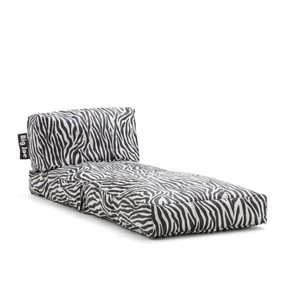 Big Joe Flip Lounger Zebra Smartmax Bean Bag 0634182 The