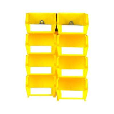 4-1/8 in. W x 3 in. H Yellow Wall Storage Bin Organizer (8-Piece)