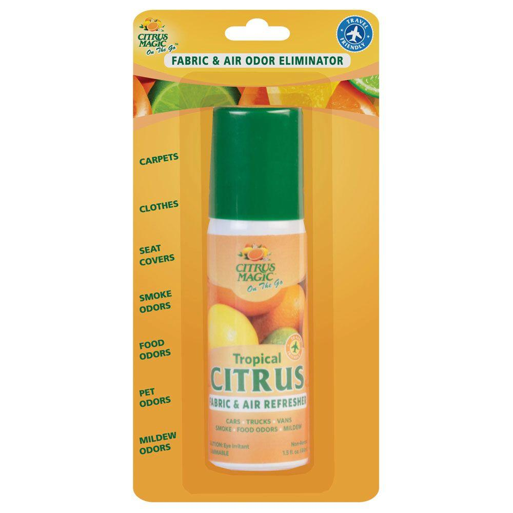 Citrus Magic 1.5 oz. On the Go Fabric & Air Odor Eliminating Citrus Spray (3-Pack)