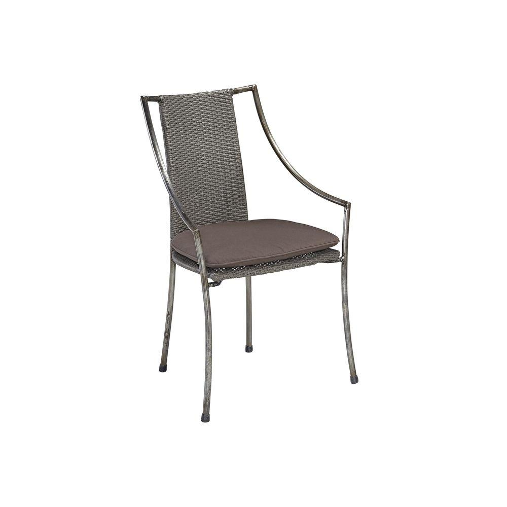 Home Styles Urban Metal Arm Chair In Aged Metal