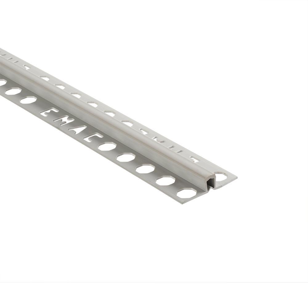 Novojunta 2 Grey 1/2 in. x 98-1/2 in. PVC Tile Edging