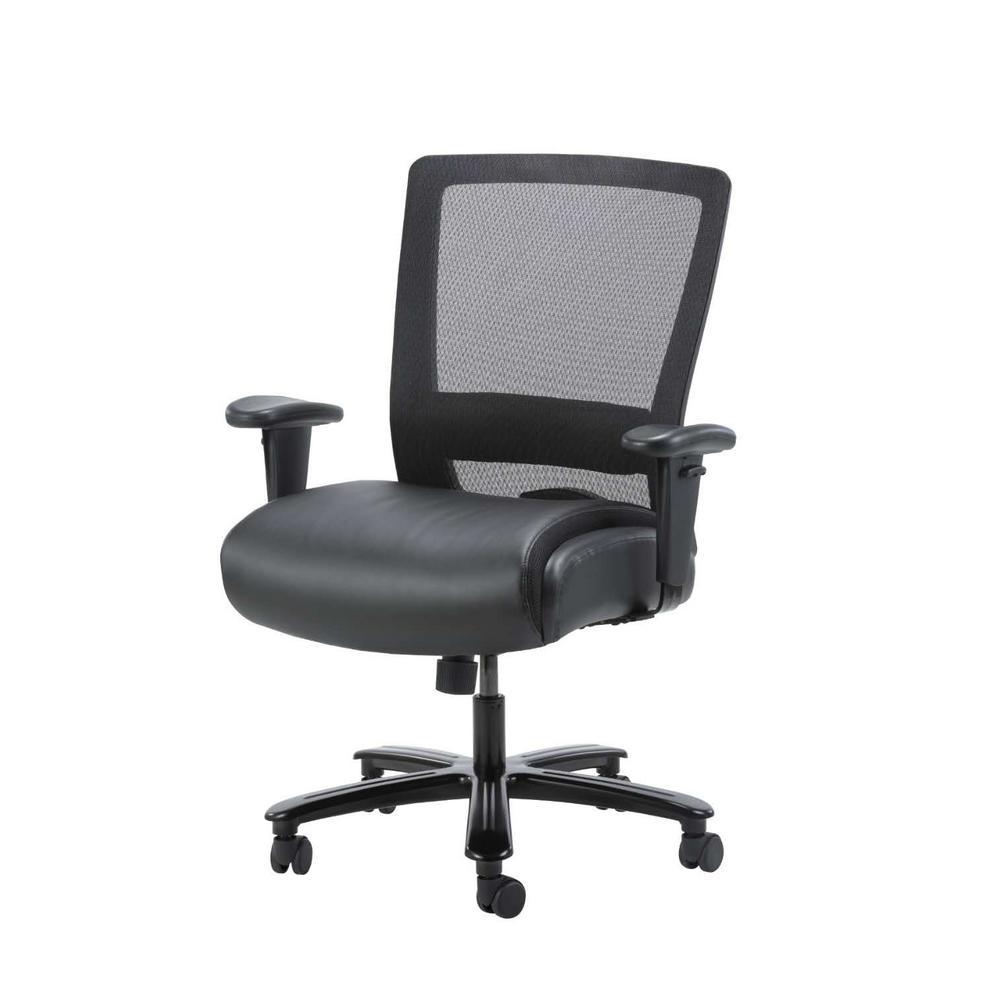 Boss Office Black Mesh Heavy Duty Task Chair 400 Lb Capacity B699 Bk The Home Depot