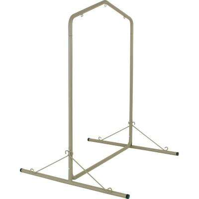 5.5 ft. Taupe Textured Large Steel Swing Stand