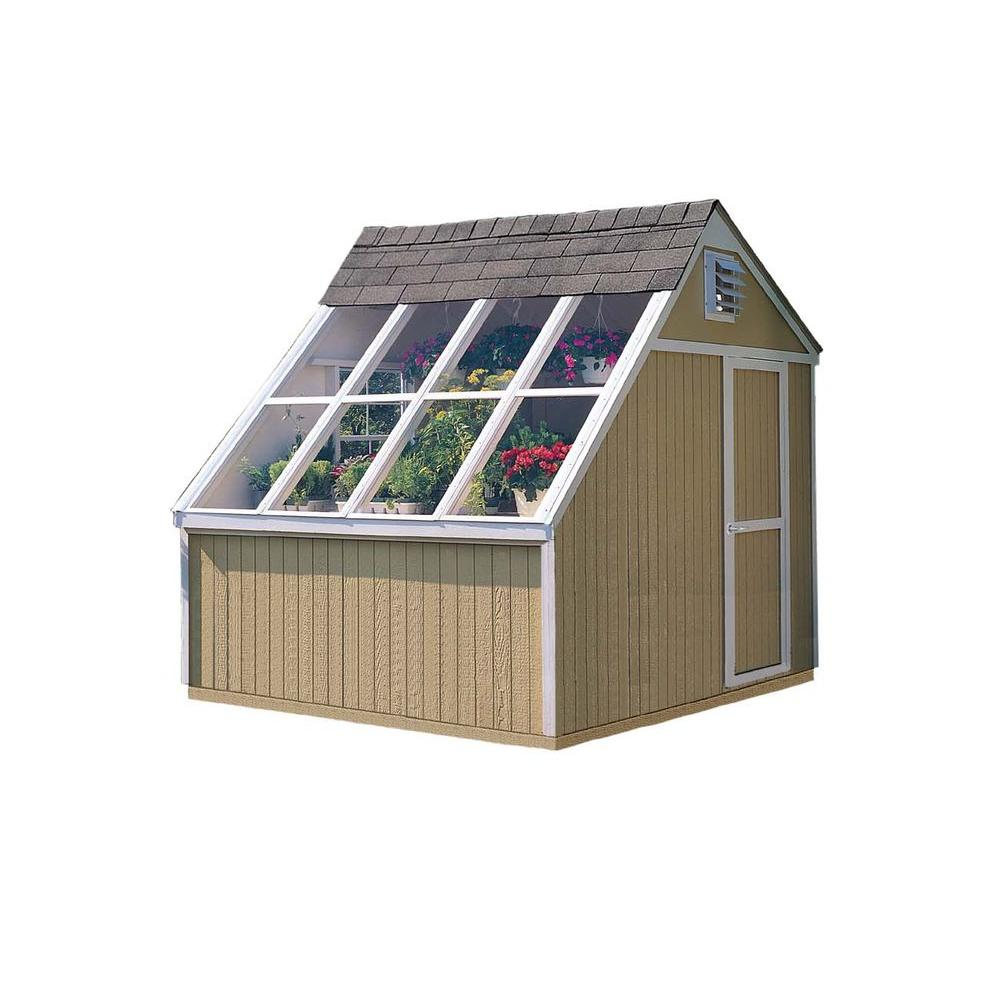 Handy Home Products Phoenix 10 ft. x 8 ft. Solar Shed with Floor ...