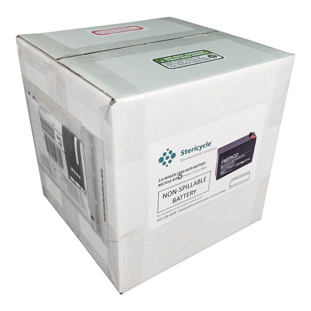 2 Gallon Lead Acid Battery Pail Prepaid Recycling Kit