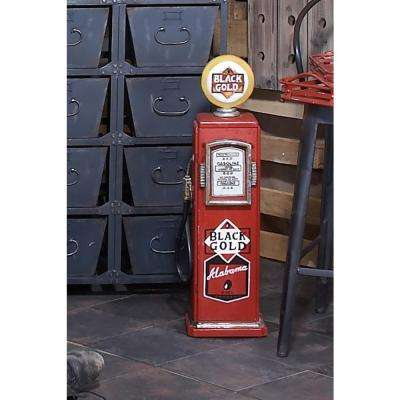 Vintage 10 in. x 33 in. Wooden Gas Pump