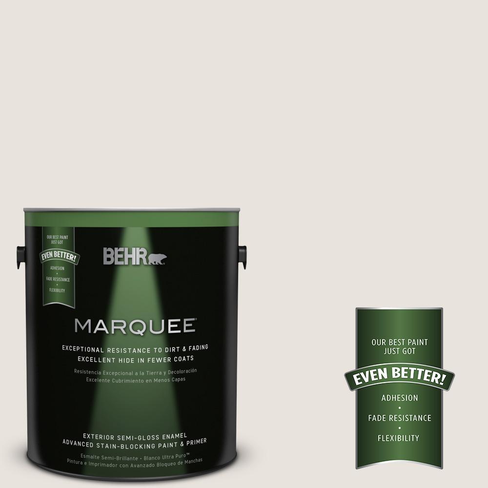 BEHR MARQUEE 1-gal. #790C-1 Irish Mist Semi-Gloss Enamel Exterior Paint