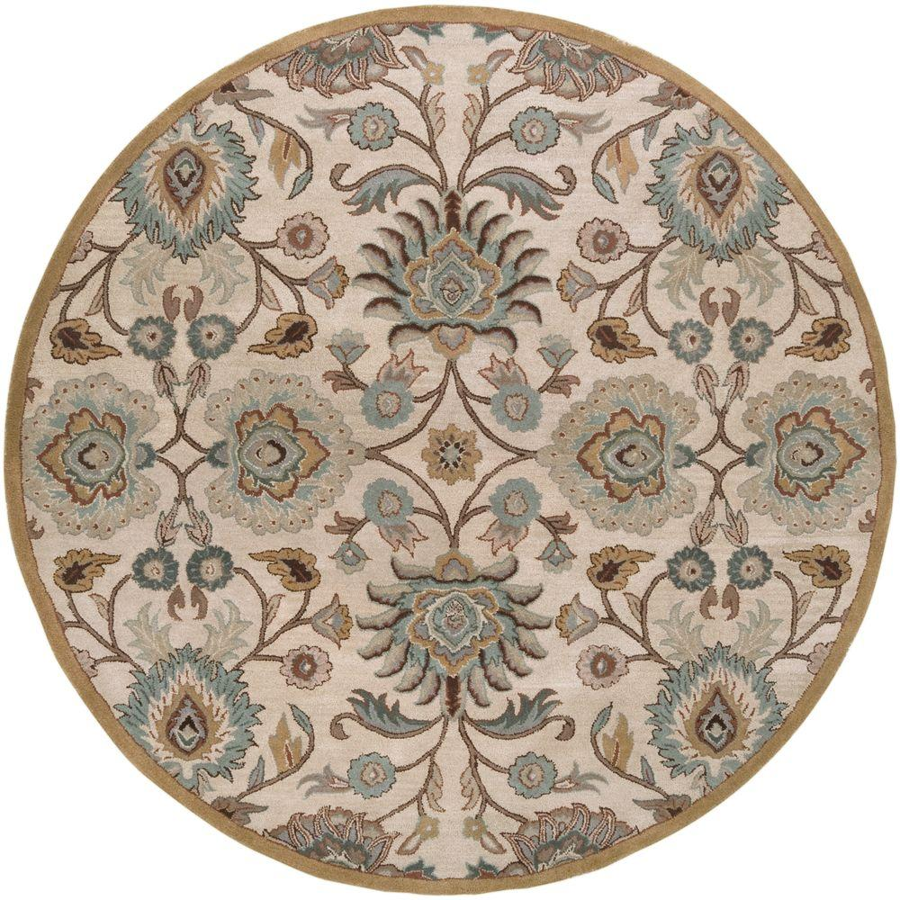 Artistic Weavers John Taupe 4 Ft X 4 Ft Round Area Rug