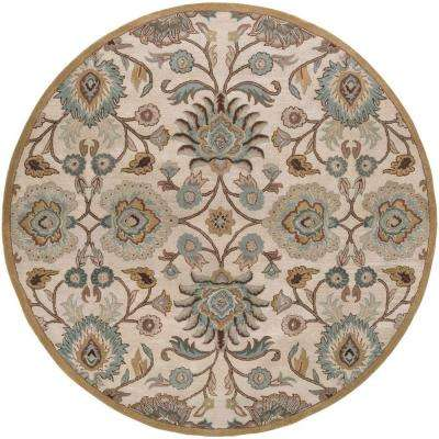 Cambrai Taupe 10 ft. x 10 ft. Round Indoor Area Rug