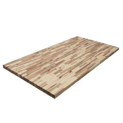 6 ft. 2 in. L x 3 ft. 3 in. D x 1.5 in. T Butcher Block Countertop in Unfinished Acacia Wood