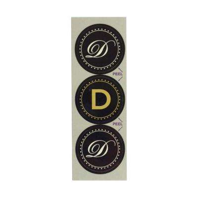 D Monogram Decorative Bathroom Sink Stopper Laminates (Set of 3)