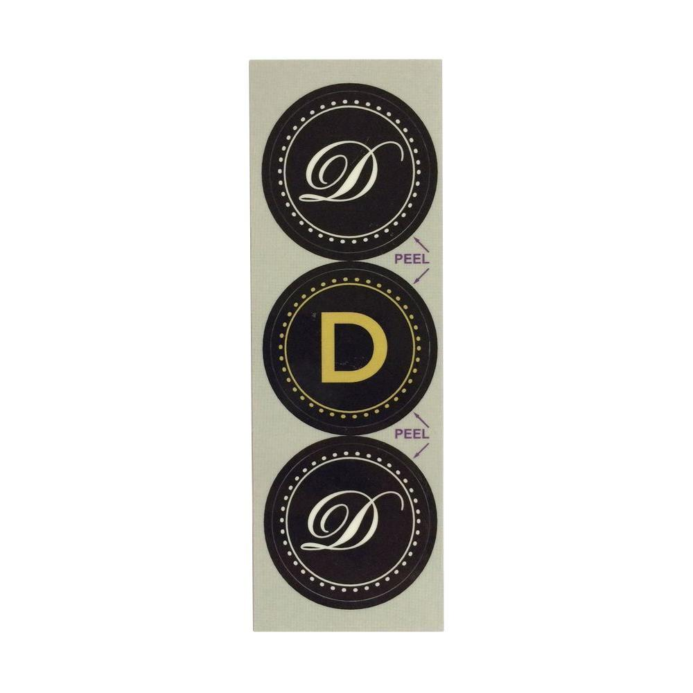 Stopper Toppers D Monogram Decorative Bathroom Sink Stopper Laminates (Set of 3)