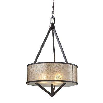 Mica 3-Light Oil-Rubbed Bronze Pendant