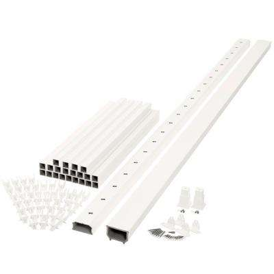 Horizon 8 ft. x 3 ft. White Capped Composite Rail Kit