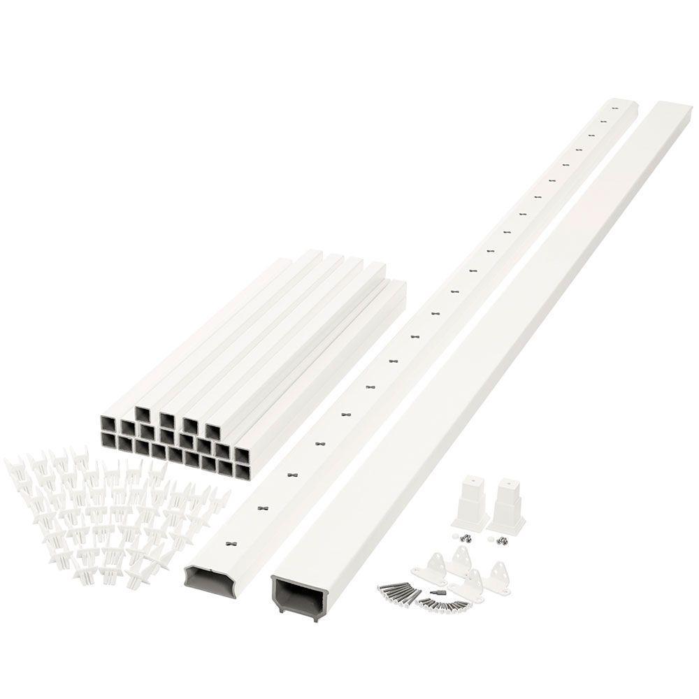 Horizon 8 ft. x 3 ft. White Capped Composite Rail Kit