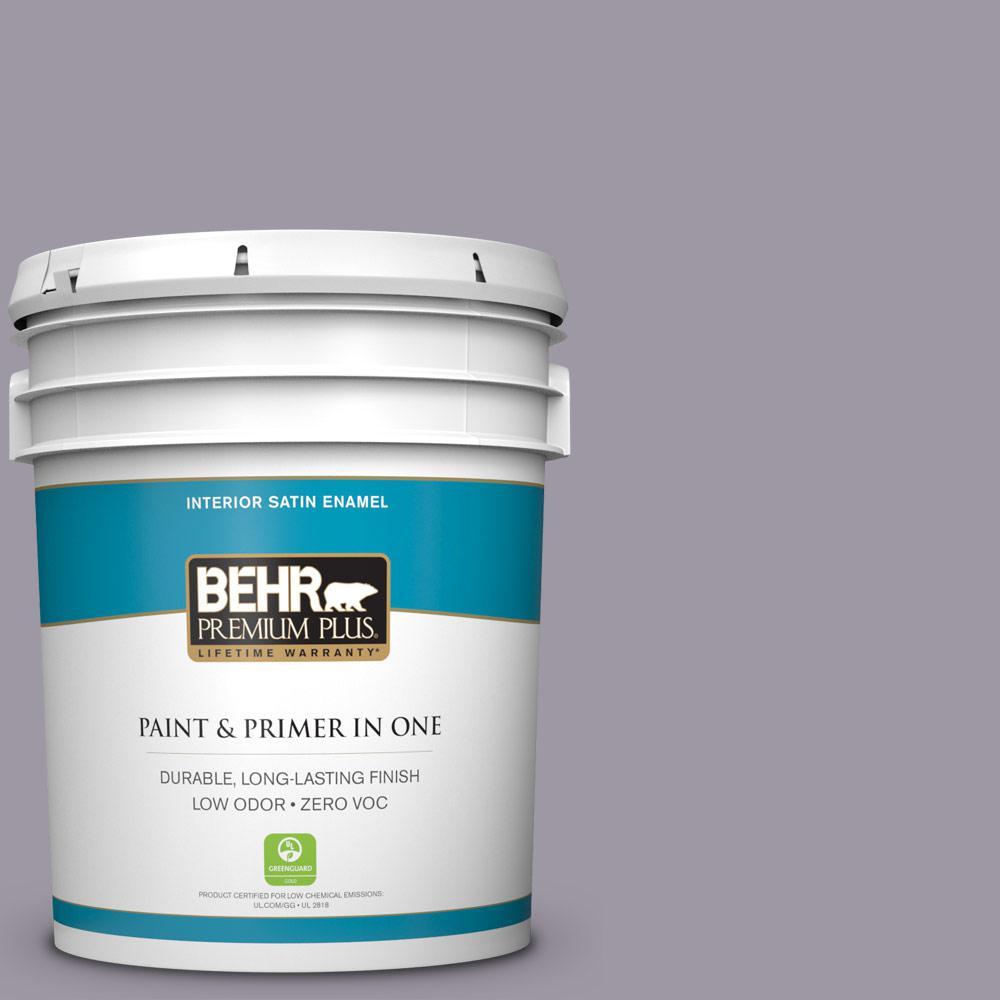 BEHR Premium Plus 5-gal. #N100-4 Fortune Satin Enamel Interior Paint