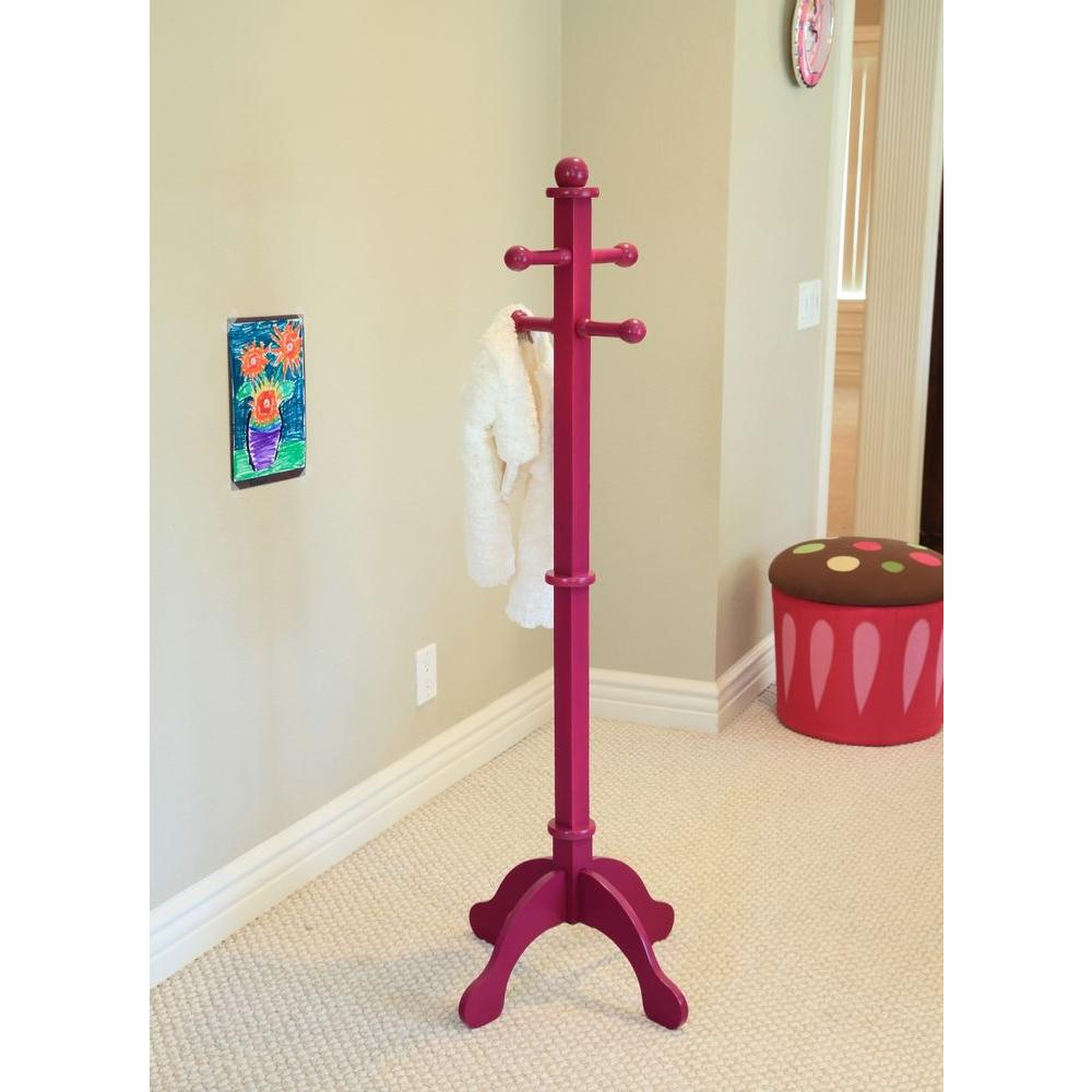 4-Hook Kid's Coat Rack in Purple