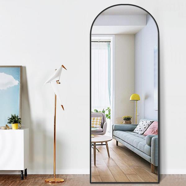 Pexfix 65 In X 22 Modern Arched, Free Standing Leaning Mirror