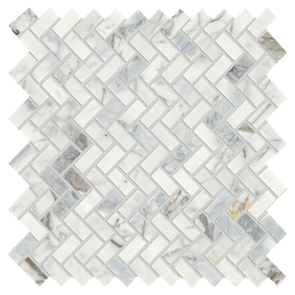 Daltile Stone Decor Fog 11 In X 12 10 Mm Marble Mosaic