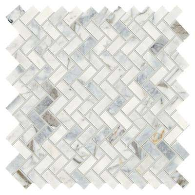 Stone Decor Fog 11 in. x 12 in. x 10 mm Marble Mosaic Tile