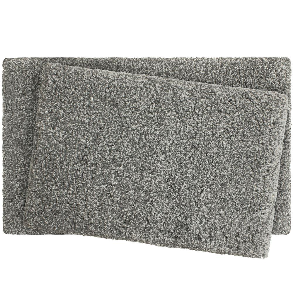 Bath Mats Bathroom Bedroom Rug Set Quick Dry Mat Dark Grey