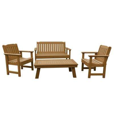 Lehigh Toffee 4-Piece Recycled Plastic Outdoor Conversation Set