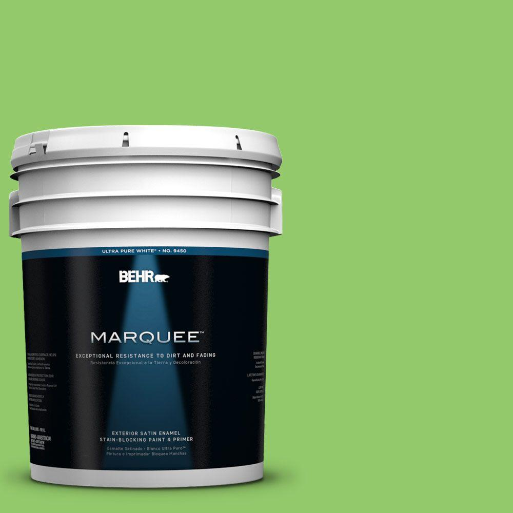 BEHR MARQUEE 5-gal. #430B-5 Apple Orchard Satin Enamel Exterior Paint