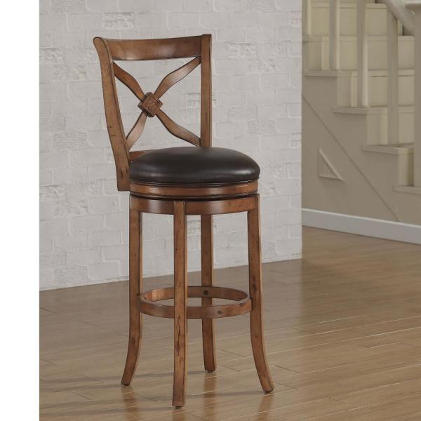 American Woodcrafters Provence 26 In Light Oak Swivel Counter Stool B2 201 26l The Home Depot