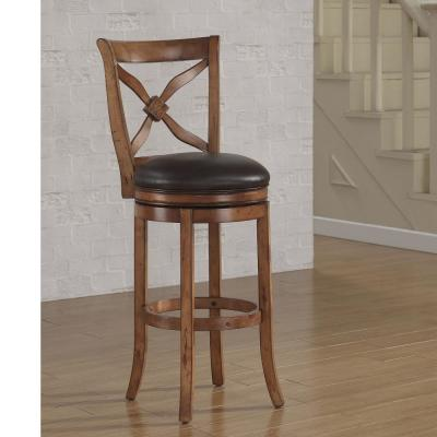 Provence 26 in. Light Oak Swivel Counter Stool