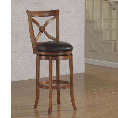 Provence 34 in. Light Oak Swivel Tall Bar Stool