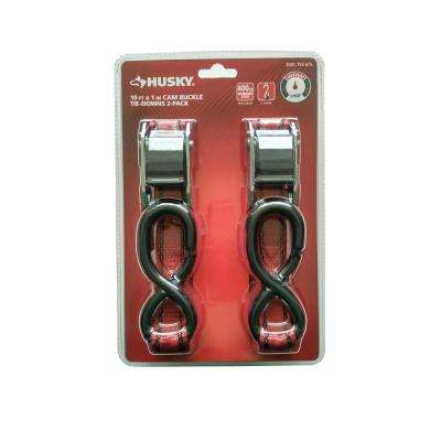 1 in. x 10 ft. Locking Tie-Down with S-Hooks (2-Pack)