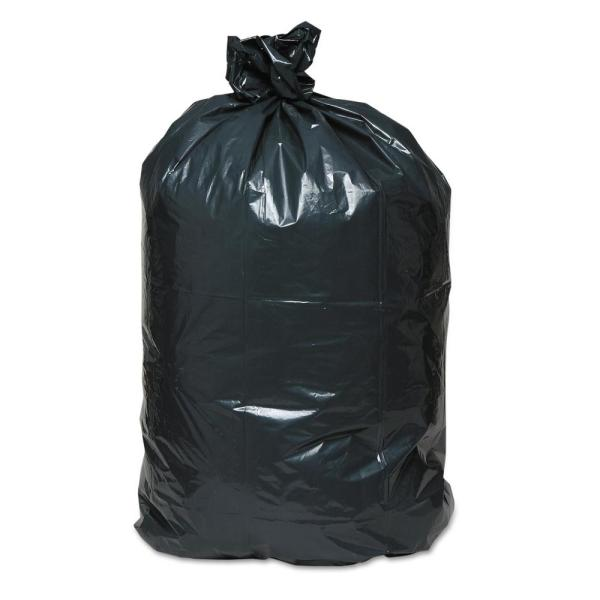 42 Gal. 2.5 mil 33 in. x 48 in. Contractor Black Super Value Pack Trash Bags (50/Carton)