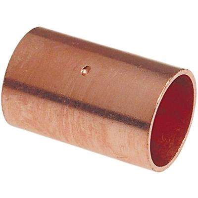 MCP600 1/2 in. Copper Pressure C x C Coupling with Dimple Stop (50-Pack)