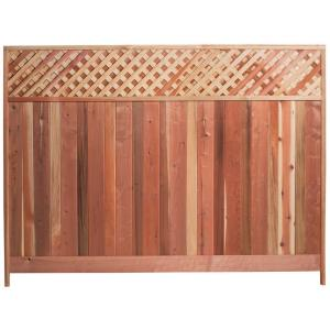 Mendocino Forest Products 6 Ft H X 8 Ft W Redwood