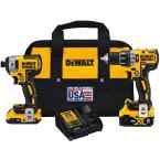20-Volt MAX XR Cordless Brushless Hammer Drill/Impact Combo Kit (2-Tool) with (1) Battery 2Ah and (1) Battery 4Ah