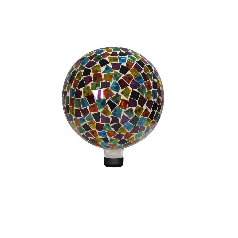 10 in. Red/Blue/Yellow Mosaic Gazing Globe
