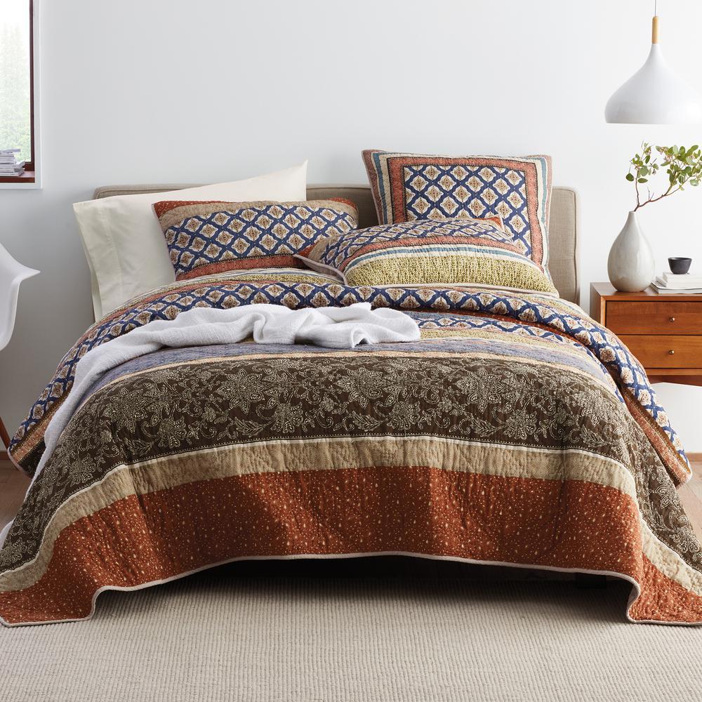 Kent Cotton Patchwork Full/Queen Quilt